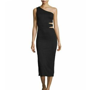 Alice and Olivia Margo One Shoulder Dress